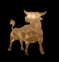 Zodiac polygonal tirangle fantasy animal unicorn vector