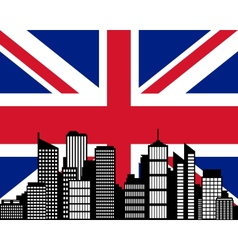 city and flag of great britain vector image vector image