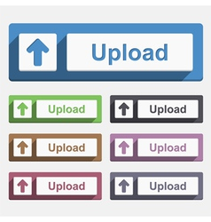Flat Upload Button vector image vector image