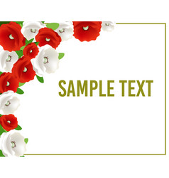 greeting or invitation card with flowers for vector image vector image