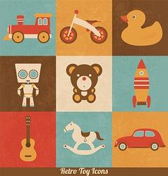 Retro Toy Icons vector image