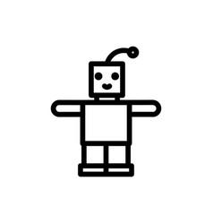 robot thin line icon outline symbol newborn baby vector image