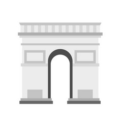 triumphal arch icon flat style vector image vector image