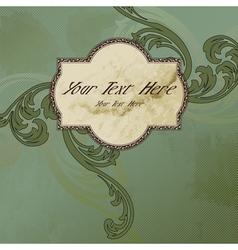 victorian vintage label vector image