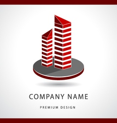 Abstract Real estate logo design template vector image vector image