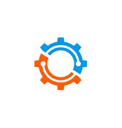 gear color logo vector image vector image