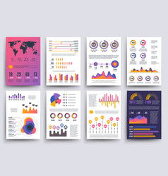 graphical business report template with vector image
