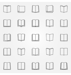 Open book icons set vector image