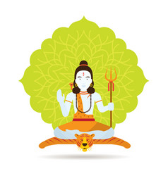 shiva hindu god or deity vector image