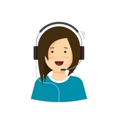 Support assistant help desk agent woman in vector image