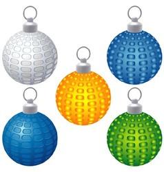 Textured Christmas Balls vector image vector image