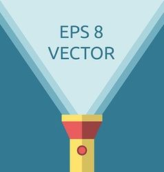 Yellow flashlight copy space vector image