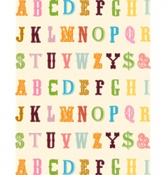 abc typeface vector image vector image