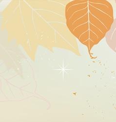 Autumn horizontal banner yellow vector image vector image