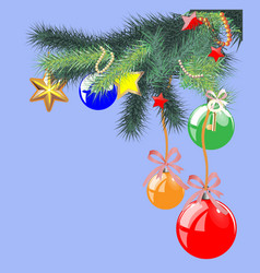 christmas objects collection detailed vector image