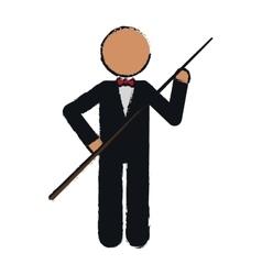 drawing character billiard player tuxedo vector image vector image