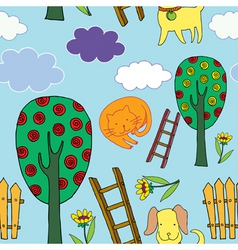 garden pets vector image vector image