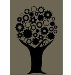 Gear tree vector