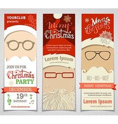 Ho Ho Ho Set of Santa banners vector image vector image