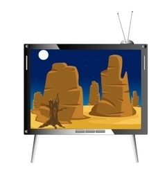 Television set shows nature vector image vector image