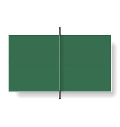 Tennis table vector image vector image