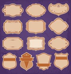 Vintage Frame Labels Set vector image vector image