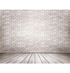 White brick room vector
