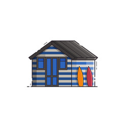 beach hut house vector image