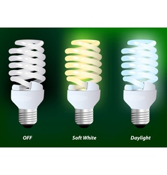 Compact fluorescent lamp vector image vector image