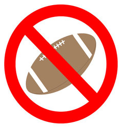 Prohibition to play with the ball rugby vector image vector image