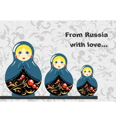 Russian Dolls Banner vector image vector image