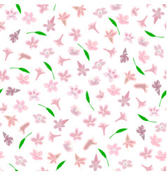 simple cute pattern in small-scale pink flowers vector image vector image