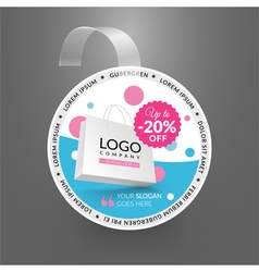Wobbler design template Sale event vector image