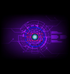 abstract future circle technology concept vector image