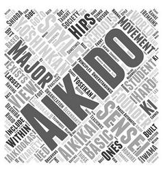 Aikido yoshinkan word cloud concept vector