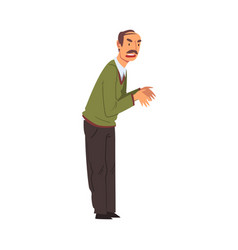 angry mature man character man scolding and vector image