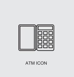 Atm icon vector