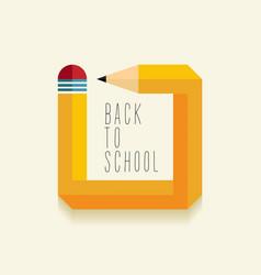 Back to school creative design vector image