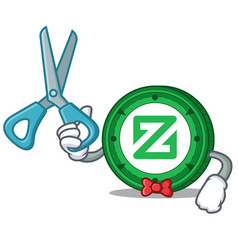 Barber zcoin character cartoon style vector