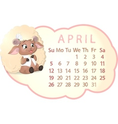 beautiful calendar vector image