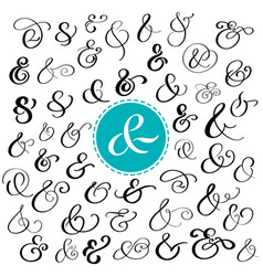 Big collection of custom handwritten ampersands vector