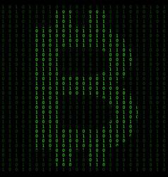 binary code blockchain technology algorithm vector image