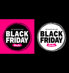 Black friday sale banner purple color background vector