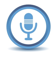 Blue microphone icon vector