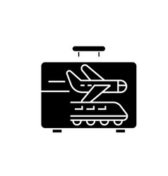 business traveling black concept icon vector image