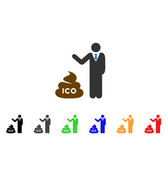 Businessman show ico shit icon vector