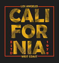 california los angeles typography for design vector image