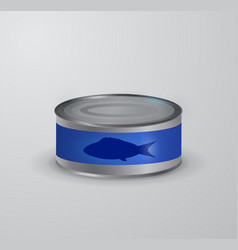canned tuna fish icon vector image