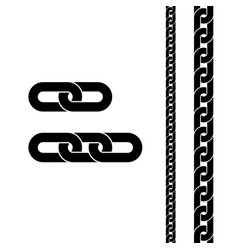 chain black icon connection symbol for web site vector image