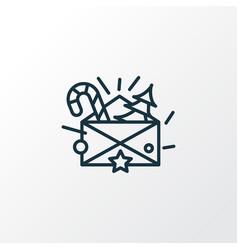 christmas letter icon line symbol premium quality vector image